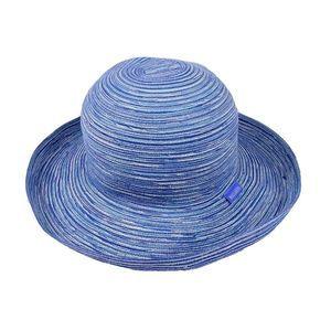 Wallaroo Hat Company Blue Poly Braid Beach Hat